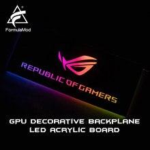 Formulamod fm-db, placa traseira decorativa gpu, com iluminação de 5v 3pin led backplane acrílico, pode sincronizar à placa-mãe
