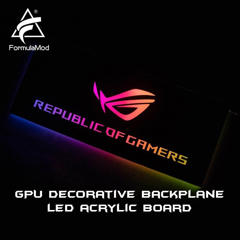FormulaMod Fm-DB, plaque arrière décorative Gpu, avec fond de panier acrylique 5v 3pin éclairage LED, peut synchroniser à la carte mère