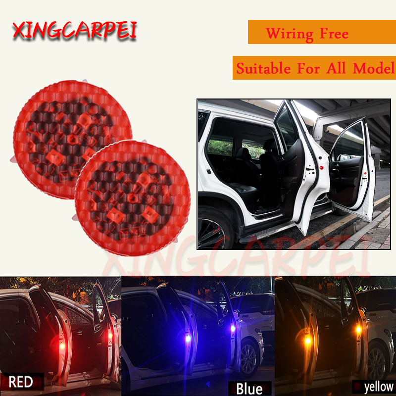 2 Pieces Car Safety Door Open Warning Anti Collision Flash Lamp LED
