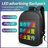 LED advertising backpack WIFI APP control cool eye catching LED display backpack street walking backpack DIY LED display bag