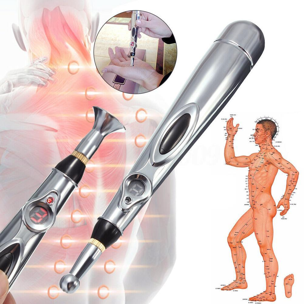 Electronic Acupuncture Pen Electric Meridians Laser Therapy Heal Massage Pen Meridian Energy Pen Relief Pain Tools Health Care