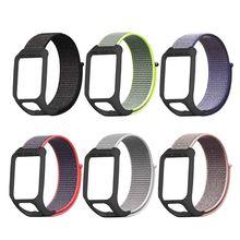 Anti-scratch Nylon Loop Watch Band Wrist Strap Bracelet for TomTom Runner 3/Adventurer/Spark 3 Music/Golfer 2 Smart Watch