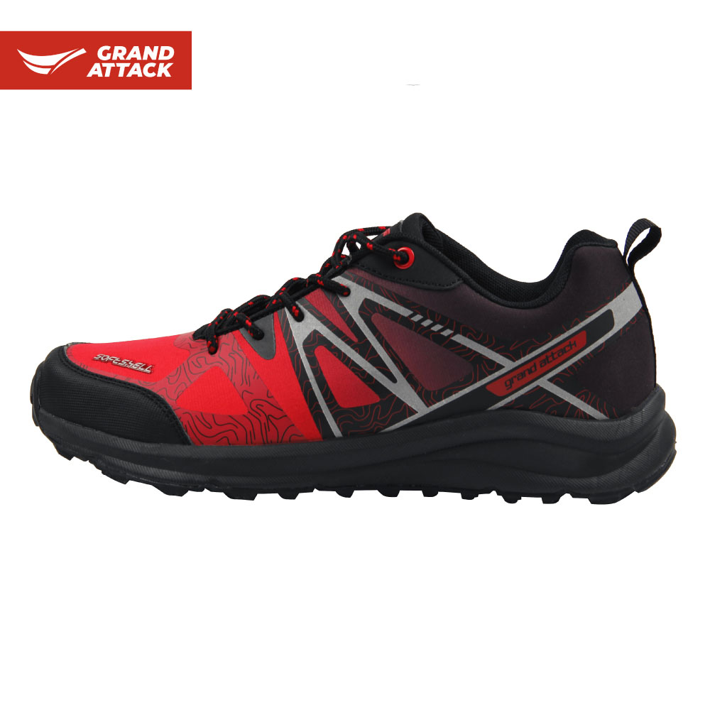Closeout Deals╧Men's Shoes Backpacking Grand-Attack Lightweight Comfortable Hiking Outdoor Soft-Shell