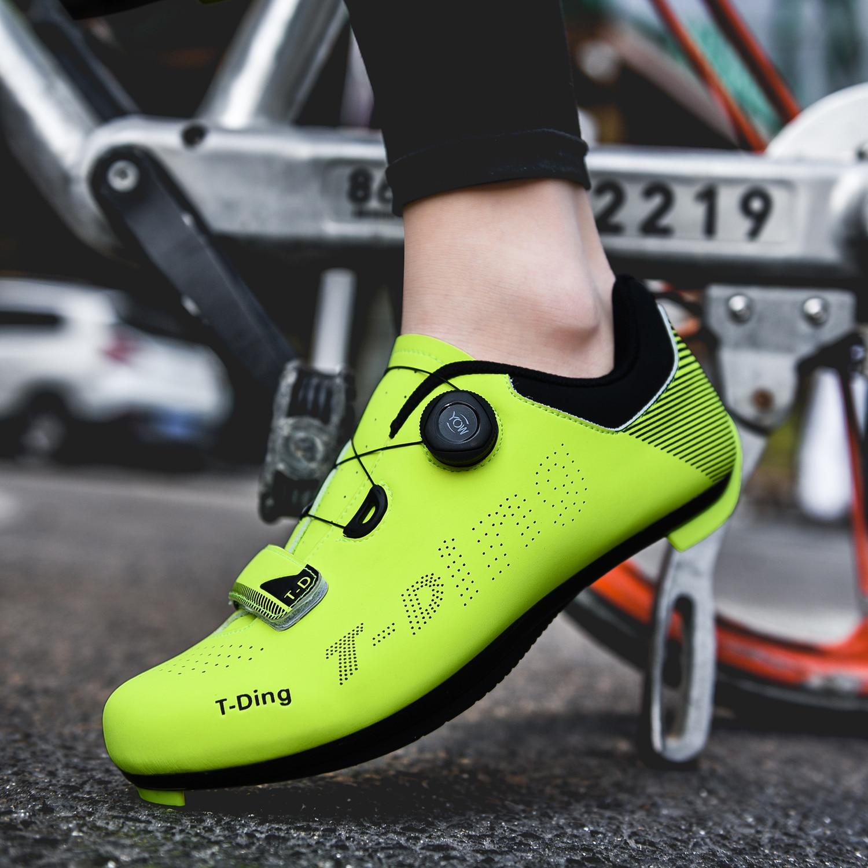 estrada dos homens sapatos de bicicleta de