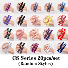 10/20pcs/set Nail Sticker Polish Wraps Double Ended Adhesive Pure Solid Color Full Cover Strips DIY Fashion Stickers Manicure