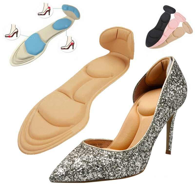 1 çift konfor nefes kadın moda tabanlık masaj yüksek topuklu ayakkabılar tabanlık kaymaz sıcak