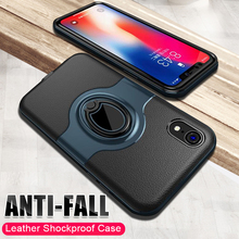 Luxury Leather Soft Silicone Phone Case For IPhone XR XS Max 8 7 6 6s Shockproof Case For IPhone 6 6s X 8 7 Plus Ring Case Cover for iphone 6s case for iphone 6 macaron phone bag cases silicone case for iphone 5 5s se 6 6s 7 8 plus case cover for iphone 6
