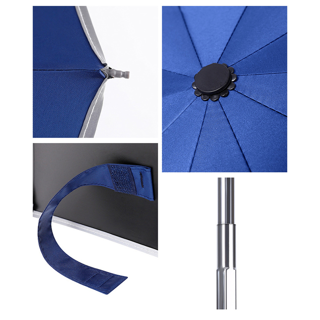 Automatic Umbrella Reverse Folding Business Umbrella With Reflective Strips Umbrellas Rain For Men Women Windproof Male Parasol 5
