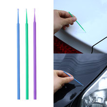 Pincel colorido touch-up, caneta descartável, ferramenta de manutenção de carro, aplicador de vara, 100 pçs/lote pincéis