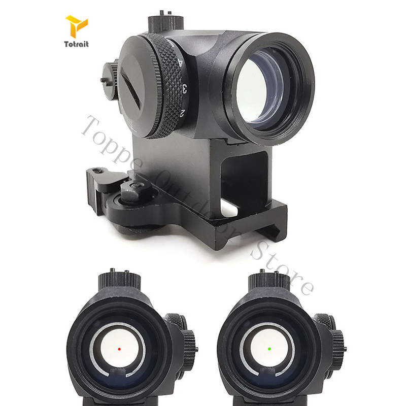 TOtrait Dot Sight Mini 1X24 T1 Rife scope Sight Illuminated Sniper Red Green Dot Sight With Quick Release For Hunting Airsoft image