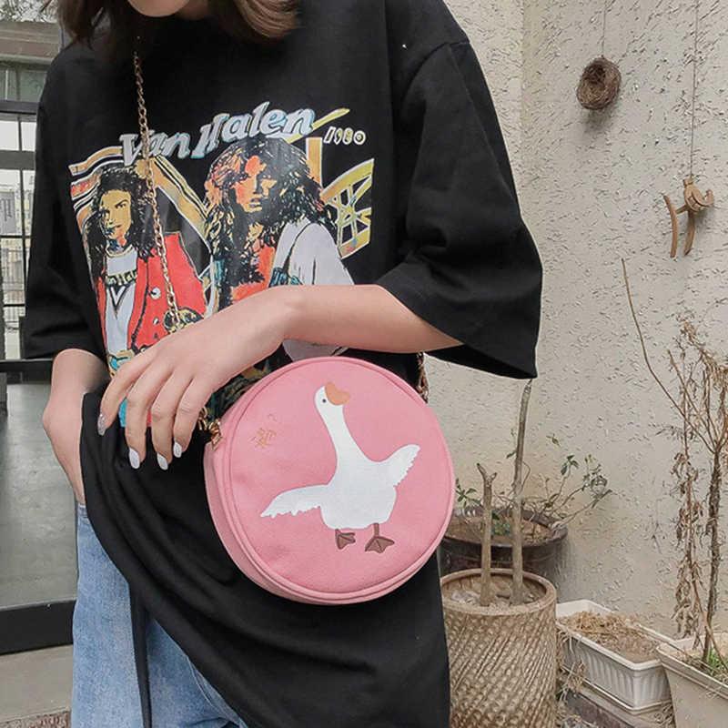 Bolso de mujer Mini bolsos redondos patrón de cadena de hombro bolso de mensajero círculo señora Top-handle bolsos de mano embragues