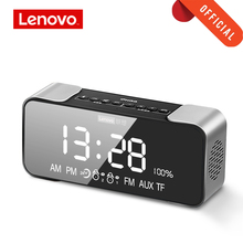 Original Lenovo L022 Portable Bluetooth Wireless Speaker Bass LED Alarm clock TF card AUX FM Wireless Loudspeaker Built-In Mic