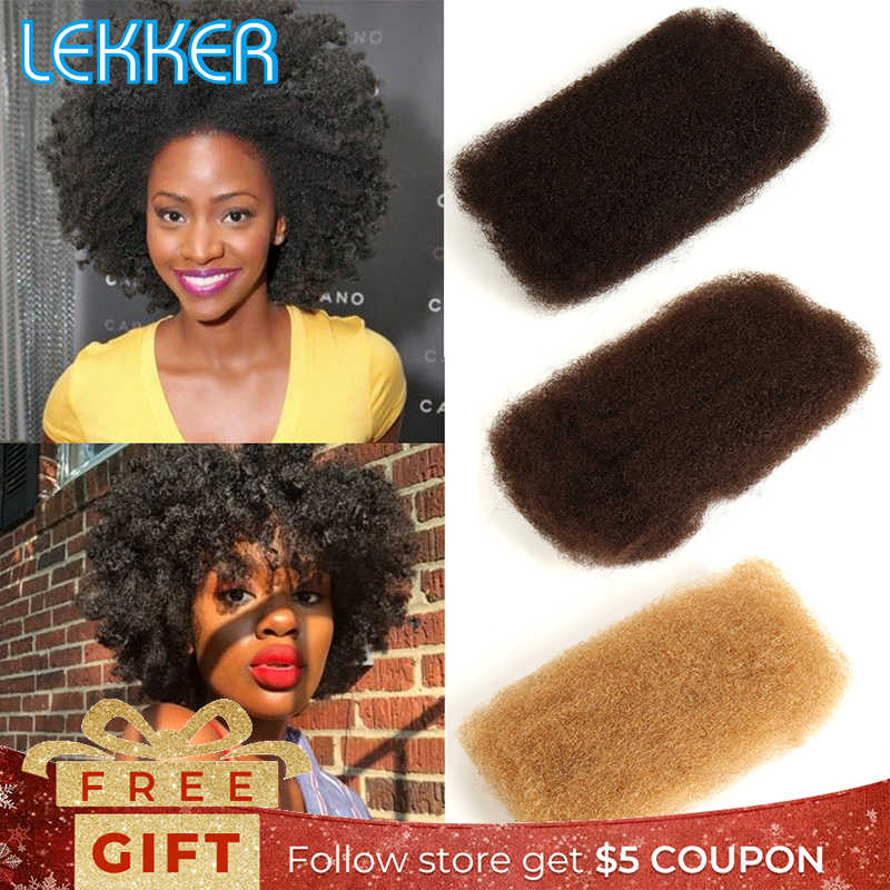 Lekker Afro Kinky Curly Hair Bulk Crochet Braid Remy Hair Bulk Hair for Braiding Hair Extensions
