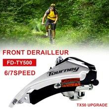 TX50 обновления FD-TY500 горный велосипед передний переключатель механизмы переключения передач для велосипеда 31,8 мм/34,9 мм для iPhone 6/7/8 Скорость П...