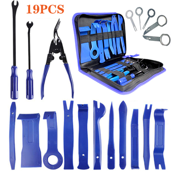 Hand Tool Set 7/11/19PCS Car Radio Removal Tools Door Dash Panel Audio Stereo Trim Removal Pry Tool Kit Clip Removal Panel Tool