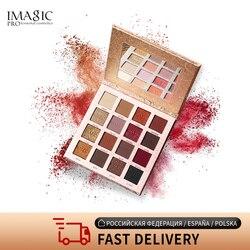 IMAGIC-paleta de sombra de ojos bonita, 16 colores, mate, brillante, pigmentado