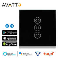AVATTO Tuya WiFi Curtain Switch for Electric Motorized Roller Shutter, Blinds EU Switch, Smart Home Work for Google Home, Alexa