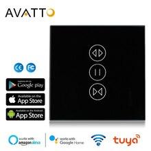 AVATTO Tuya WiFi занавес переключатель для электрического моторизованного рольставни, жалюзи ЕС/США переключатель, умный дом для Google дома, Alexa