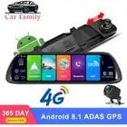 DashCam 10 4G ADAS Android 8.1 WiFi Full HD 1080P Rearview mirror Camera Dual Lens Dash Cam GPS Navigation Car DVR