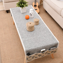 Cotton and Linen Woven Coffee Table Mat Storage Tablecloth Lace Tablecloth Coffee Table Cloth Tablecloth Cover Towel Mantel