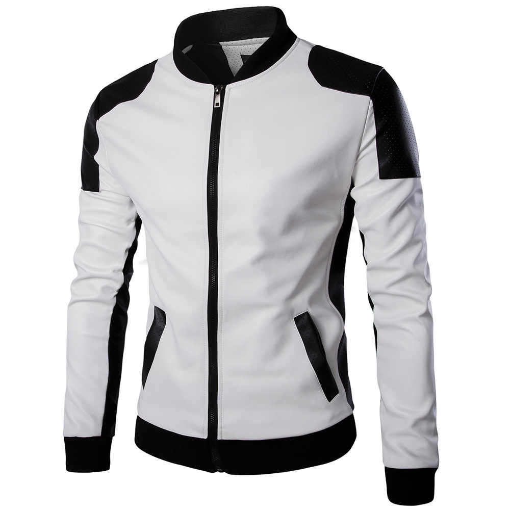 2019 новые мужские кожаные куртки, куртки и пальто из искусственной кожи, модные черные мото и куртка в байкерском стиле, мужская Тонкая стойка, мужская одежда