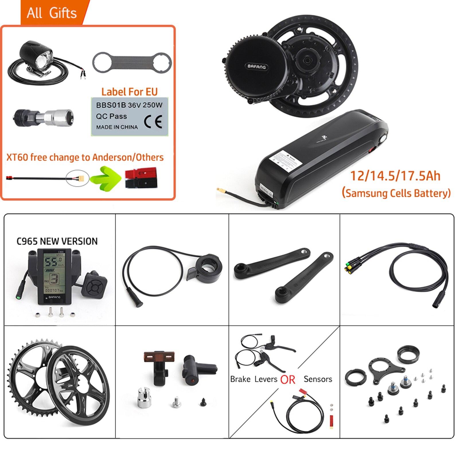 BAFANG 8FUN е-байка 36В 500 Вт середине привод BBS02B мотор 17.5Ah Мобильный телефон SAMSUNG E-BIKE литиевая батарея для электрического велосипеда полный компл...