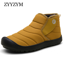 купить ZYYZYM Mens Snow Boots Winter Unisex Simplicity Waterproof Outdoors Boots Men Plush Keep Warm Casual Cotton Shoes Botas Hombre дешево