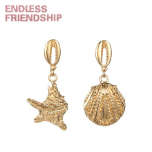 Endless Friendship Sea Style Star Seashell Earring for women Animal Charms Pendant Earrings Women Beach Accessories