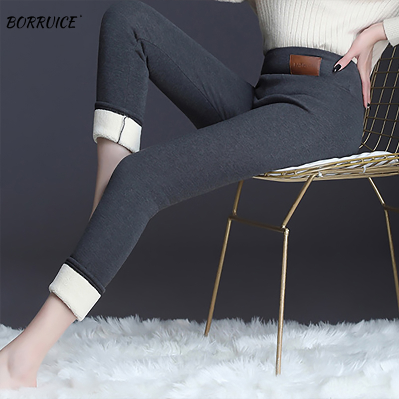 New Winter Trousers Women's Thick Lleggings High-quality High-stretch And Velvet Pant Black Leggings 5XL High Waist Sports Pant