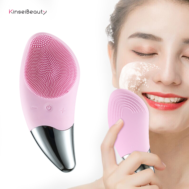 Facial Cleansing Brush Face Scrubbers Waterproof Electric Face Cleanser And Massager Brush For All Skin Types, USB Rechargeable
