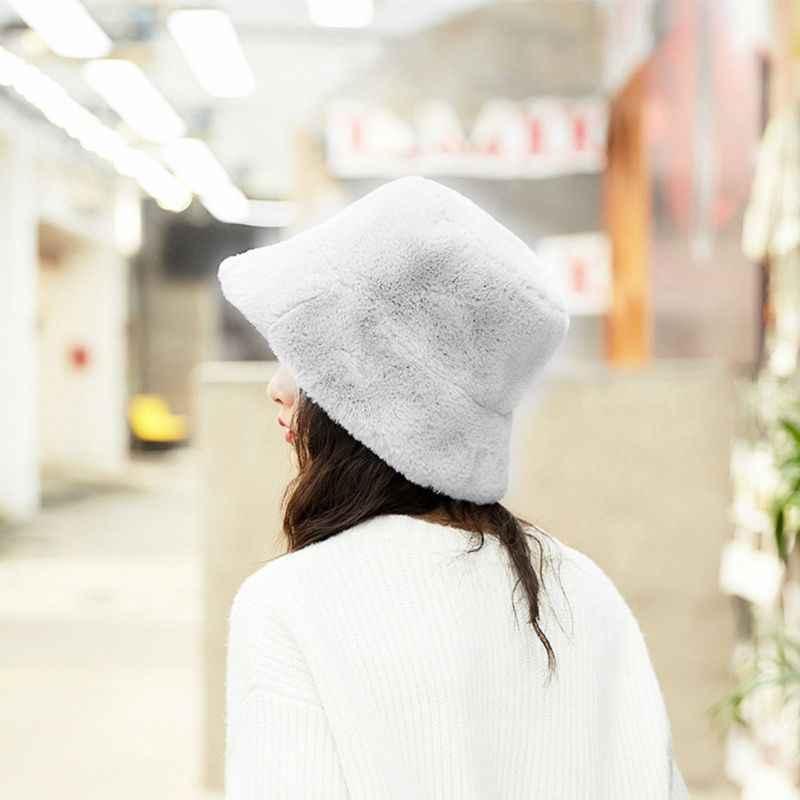 المرأة الشتاء رشاقته رقيق أفخم قبعة صياد بلون واسعة حافة قبعة الشمس