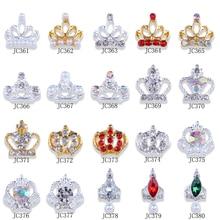 100Pc Pearl Rhinestone Nail Design Alloy 3D Gold/Silver Crown Rhinestones Crystal Diamond Jewelry Decora