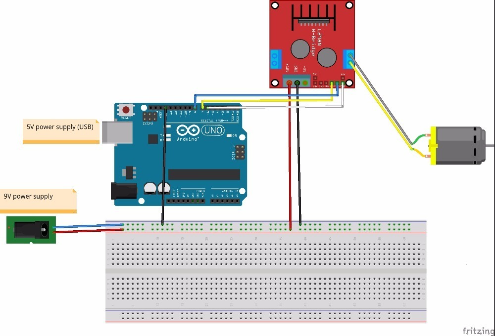 New Dual H Bridge DC Stepper Motor Drive Controller Board Module L298N for Arduino smart car robot