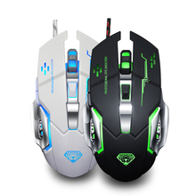 цена на G502 USB Wired Gaming Mouse 3200DPI 6 Buttons LED Light Optical Game Mouse for Gamer PC Computer Laptop Mute Mice