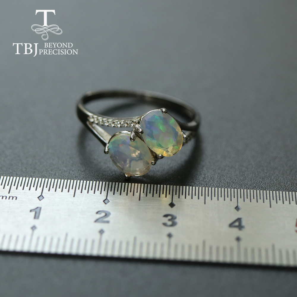 Image 3 - Opal Ring natural gemstone oval 6*8mm,solid 925 sterling silver  simple design fine jewelry Christmas for women,wife nice giftRings   -