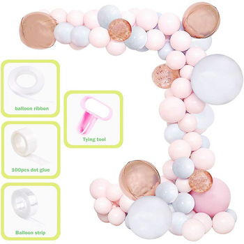 173 pieces DIY Latex Balloons  chain package birthday party scene decoration balloon Modeling Tool Plastic Balloon Chain