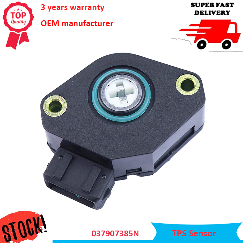 OEM 037907385N 907067001 TPS Throttle Position Sensor Fits Audi 80 B4 91-95 2.0L For Volkswagen VW Cabrio Golf Jetta Passt 2.0