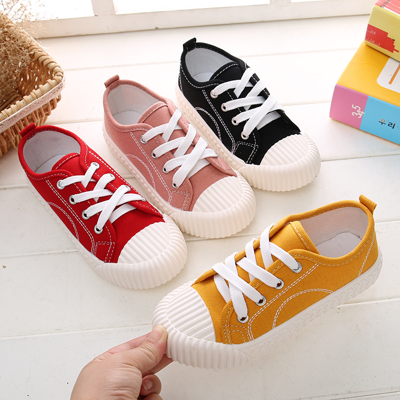 Children's Canvas Shoes 2020 Spring Toddler Shoes Boys Sneakers Girls Canvas Shoes Breathable Kids Flats Casual Shoes Loafers