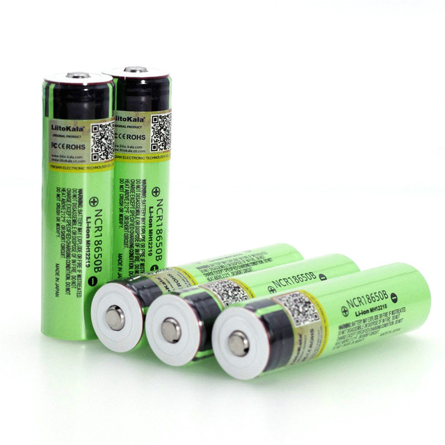 Liitokala new NCR18650B 3.7v 3400 mAh 18650 Lithium Rechargeable Battery with Pointed (No PCB) batteries 5