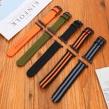 цена на Woven Nylon Sport Watchband for Apple Watch Band 44mm 42mm 40mm 38mm Fabric Strap for iwatch Series 5/4/3/2/1 Wristband Nylon