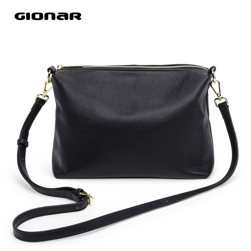 GIONAR Women Shoulder Bag Genuine Leather Purses And Handbags Daily Black Crossbody Bags For Women Designer Luxury Messenger Bag