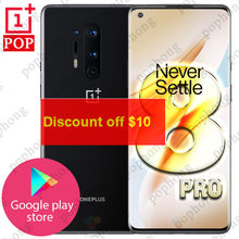 Original oneplus 8 pro 5g telefone móvel 6.78 polegada 2k 120hz snapdragon 865 octa núcleo 8g 128g android 10 30w carregador nfc smartphone