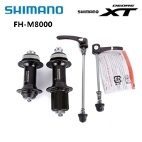 Shimano XT M8000 Front Rear Hub Mountain Road Bike Bicycle Center Lock Cube With Quick Release Skewer 32H Black Free Shipping
