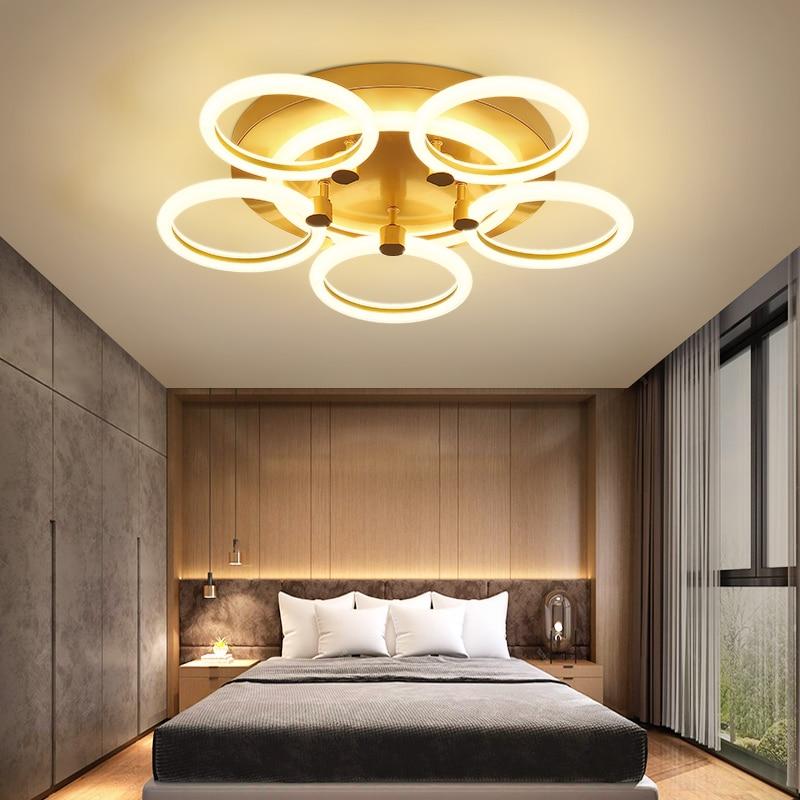 Best New Arrival Hot Modern Led Chandelier For Living Room Bedroom Study Room Gold Color RC Chandelier Fixture 90-260V