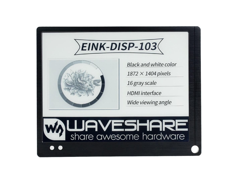 10.3inch E-paper Monitor, US  Version HDMI Display Interface, Eye Care, Supports Raspberry Pi/Jetson Nano/PC