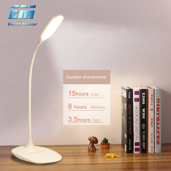 4W Brightness 360 degree Foldable USB Rechargeable Touch Sensor Table LED Lamp 3 level Dimmable Reading Study Desk Light ZZD0013