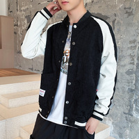 Pure color Baseball Jacket High Quality Warm High Collar Casual Fashion Winter/Autumn Thick Plus Size Coats Custom