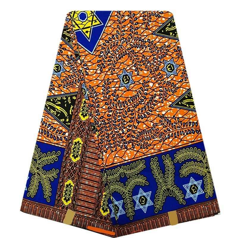 Groothandel Afrikaanse Stijl Goede Kwaliteit Gegarandeerd Echte Echte Wax Ankara Gedrukt Stof 6Yards 100% Katoen Naaien Materiaal