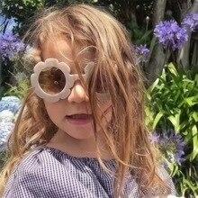 Cartoon Children PC Frame Flower Shape Sunglasses Shades Sun Glasses Eyeglasses Eyewear Beach Protection for Kids Baby Girls