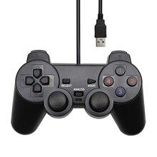 Проводной USB контроллер геймпад для WinXP/Win7/Win8/Win10 для ПК компьютера ноутбука черный игровой джойстик